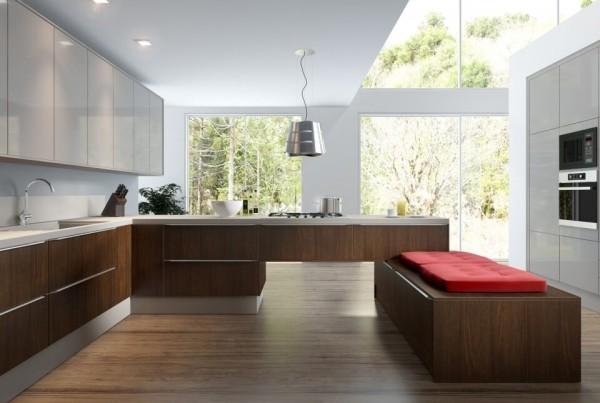 Precioso Móveis - Planejados cozinha americana com balcão