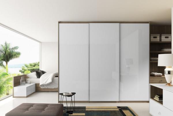 Precioso Móveis - Planejados quarto de casal com guarda roupas armário